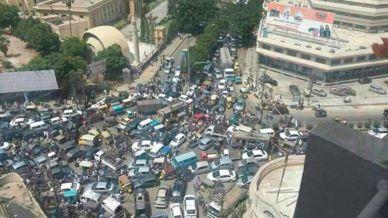 Traffic Jam in Karachi 2
